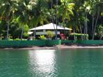 Costa Rica rainforest waterfront cabins