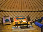 Sussex campsite with yurts, England