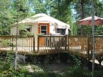 Emma Lake yurt accommodation in Saskatchewan, Canada