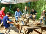 Woodcraft day course, The Cotswolds, England