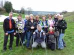 Nordic walking in the Surrey Hills, England