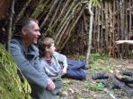 Bushcraft course, nr New Milton, New Forest, England