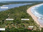 Bahia beach bungalows, Brazil