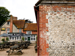 Firle pub with B&B, South Downs, England