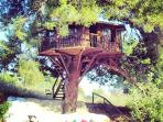 Peloponnese luxury treehouse in Amaliada, Greece