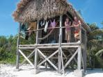 Long Caye beach cabins on a private island, Belize