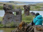 Iceland adventure holiday, Lake Myvatn in Spring
