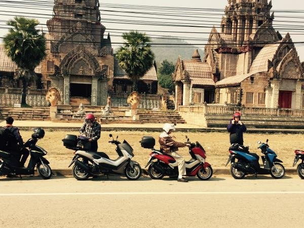 Northern Thailand scooter tour