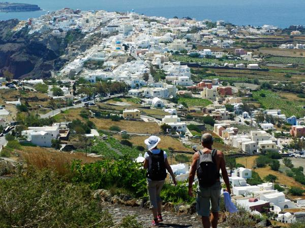 Self guided walking holiday in Santorini, Greece
