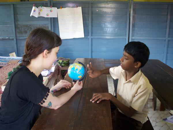 Teaching assistant volunteering in Kerala