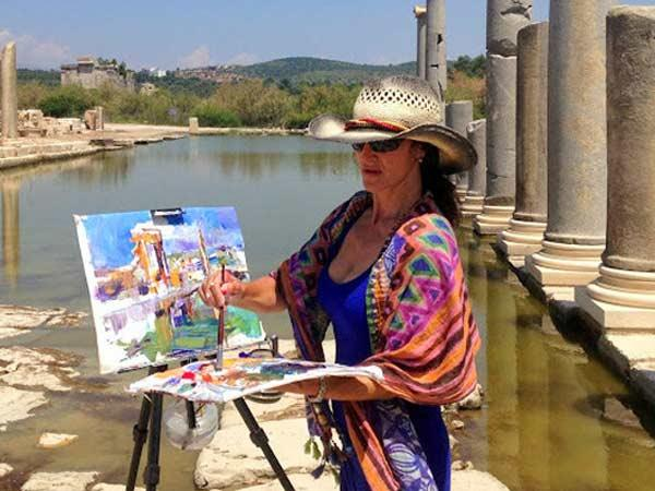 Turkey painting holiday on the Turquoise Coast