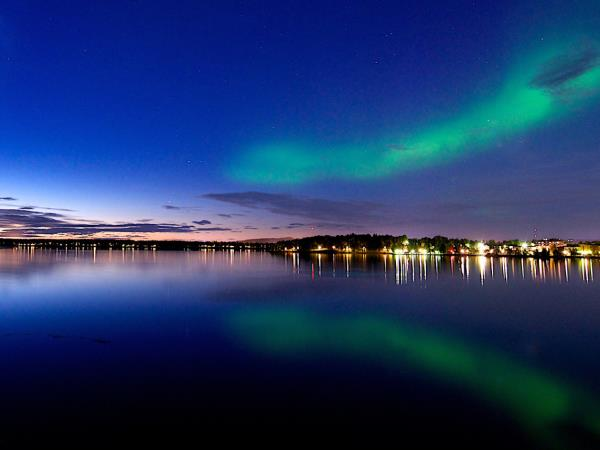 Swedish Lapland new year holiday, northern lights and activities