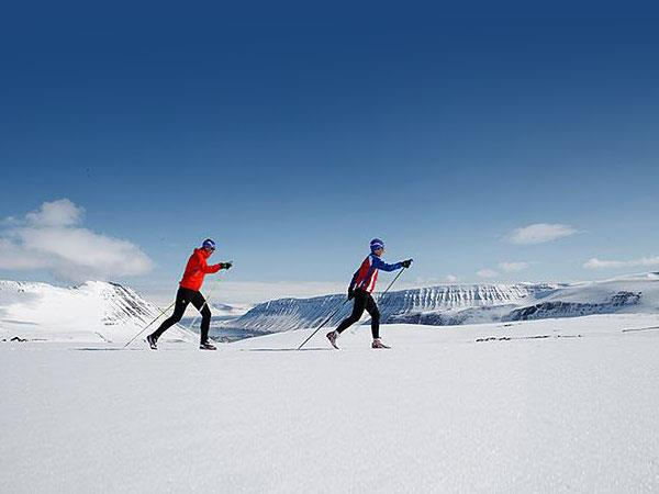 Fossavatn cross country ski race in Iceland