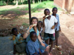 Gap year volunteer teaching in Malawi