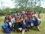 Gap year volunteer teaching in Tanzania