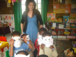 Gap year volunteer teaching in South Africa