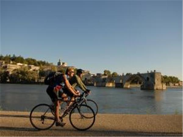 France cycling tour in the Arles countryside