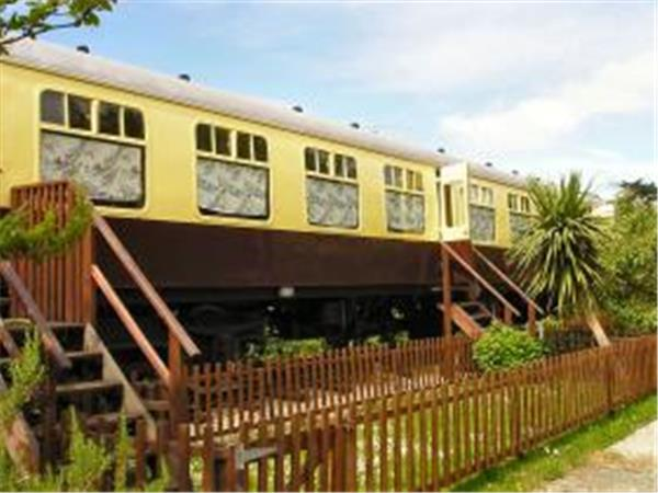 Cornwall converted railway carriage, England