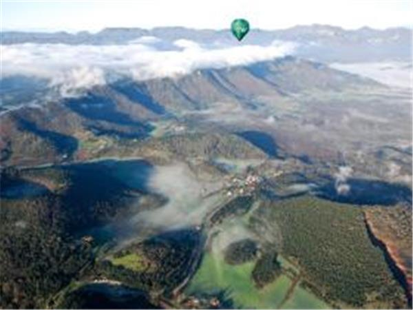 Balloon flight over Catalonia in Spain