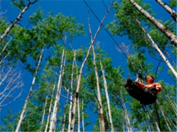 Durango Zip line in Colorado, USA