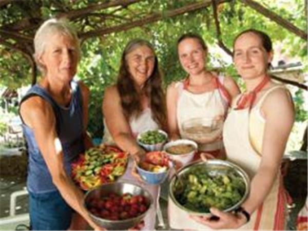 Holistic community holiday in Greece