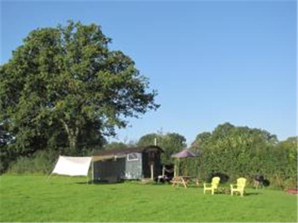East Sussex shepherd's hut camping, England