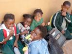 Teaching children in Zambia