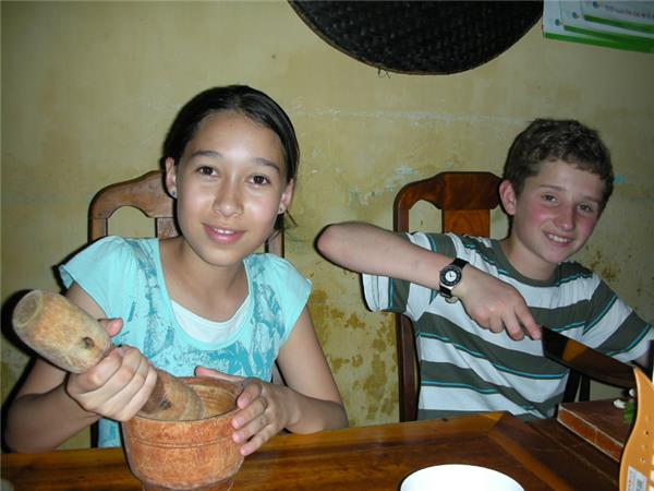 Family holiday in Vietnam, Chopsticks & Coconuts