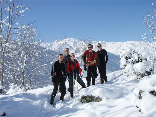 Pyrenees winter walking holiday, France