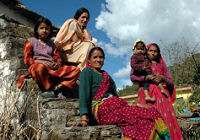 Women on rural India holiday