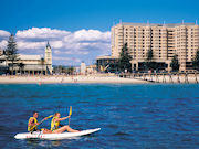 Kayaking in Glenelg, South Australia. Photo by South Australia Tourist Board