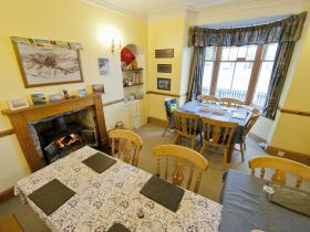 Dining room (Fraoch Lodge) perfect for walkers