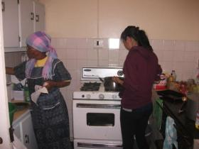 Learning how to cook local cuisine