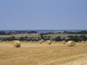 across the fields to Yarmouth