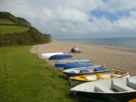 Boats at Branscombe Mouth