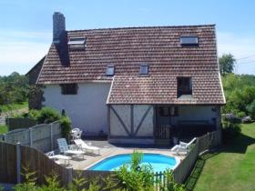Normandy self catering farmhouse with pool, France