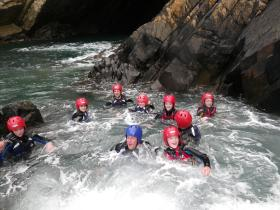 Family coasteering fun