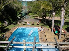 Take a splash in the backpackers Swimming Pool