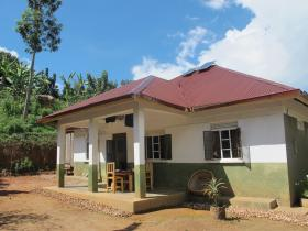 The volunteer house nestled in a little village called Nombe