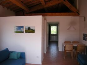 The Casina dei Tordi open plan apartment for 2 with great views