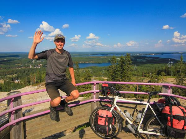 Cycling holiday in Finland, forests and lakes