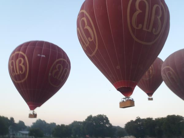 Burma hot air balloon festival holiday
