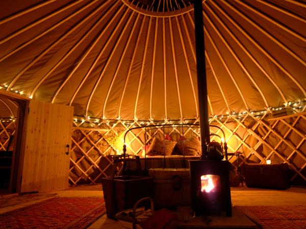 South Downs yurts in Hampshire, England