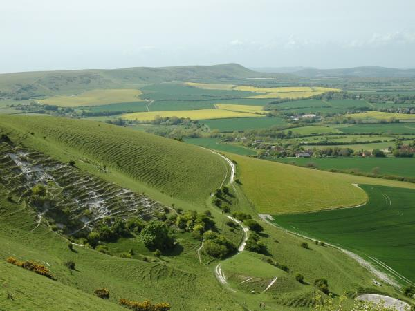 Sussex downs and coast short break walking holiday