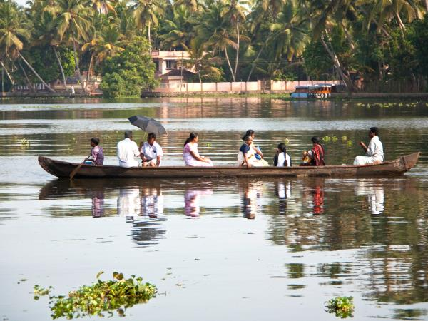 Kayaking in the Keralan Backwaters