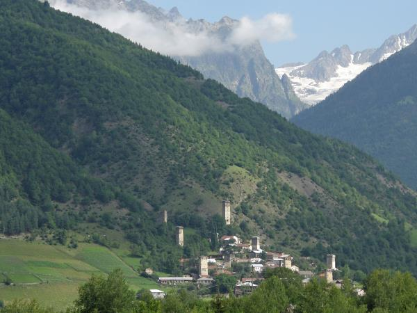 Georgia holiday, walking in the Svaneti Mountains