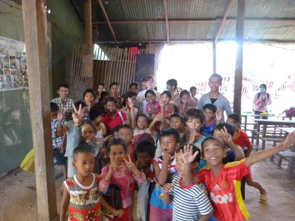 Teach children in Cambodia