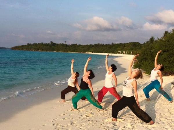 Yoga retreat in the Maldives