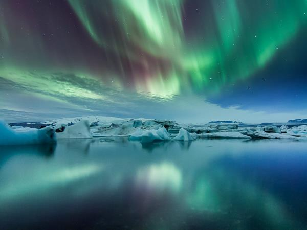 Northern Lights, glaciers and ice photography holiday Iceland