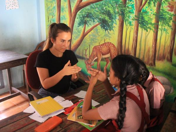 Volunteering with disabled people in India